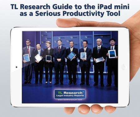 TL Research Guide to the iPad mini as a Serious Productivity Tool